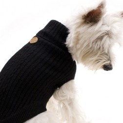 Hamish McBeth Wool Dog Jumper Black | Dog Jumpers - DOGUE