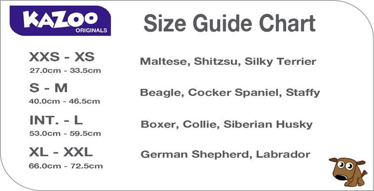 Image result for kazoo size guide chart